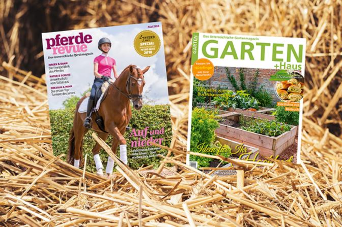 Kombiabo Pferderevue + Garten & Haus